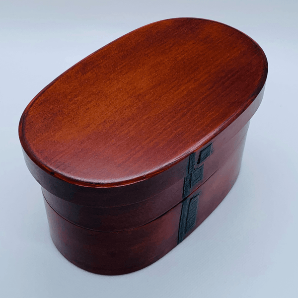 2 tiers lacquer oval BENTO lunch box Omotenashi Square, LLC 2 tiers lacquer oval BENTO lunch box