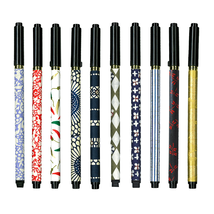 "Brush Pen ""KOTO"" Japanese modern set of 20pcs Omotenashi Square, LLC Brush pen ""KOTO"""