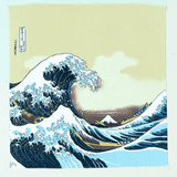 FUROSHIKI UKIYOE Japanese Wrapping cloth Omotenashi Square, LLC #2 THE GREAT WAVE