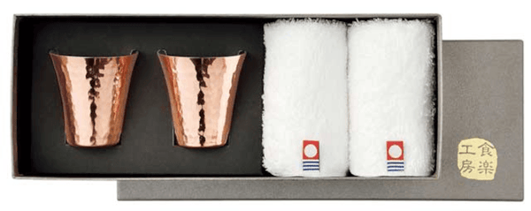 IMABARI-TOWEL & TSUBAME Copper Cup Omotenashi Square, LLC B. 4PC set