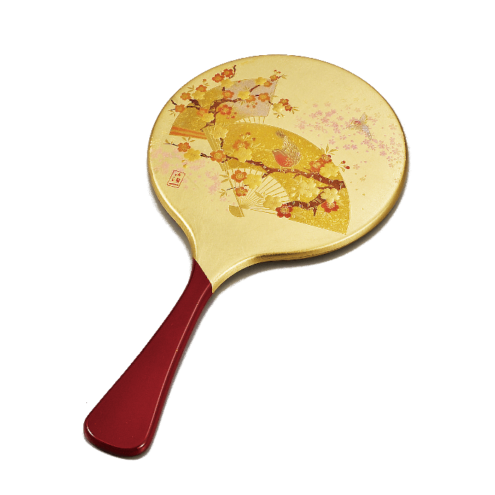 Japanese Handheld mirror 476 Omotenashi Square, LLC GOLD