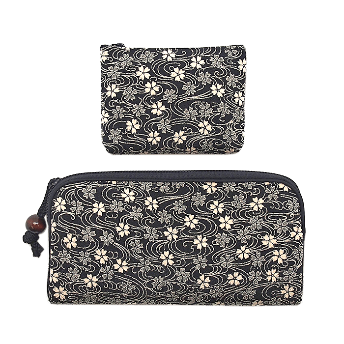 Kyoto style long wallet/small coin case Omotenashi Square, LLC gray
