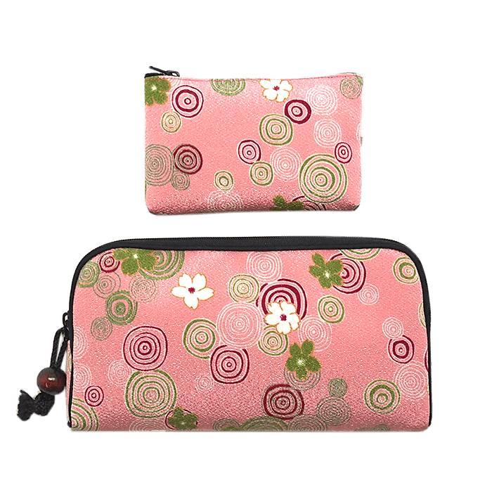 Kyoto style long wallet/small coin case Omotenashi Square, LLC pink