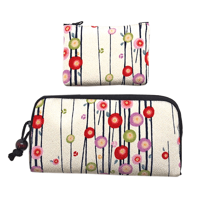 Kyoto style long wallet/small coin case Omotenashi Square, LLC white