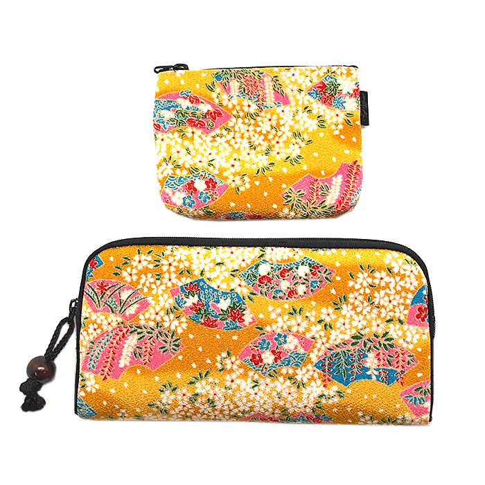 Kyoto style long wallet/small coin case Omotenashi Square, LLC yellow
