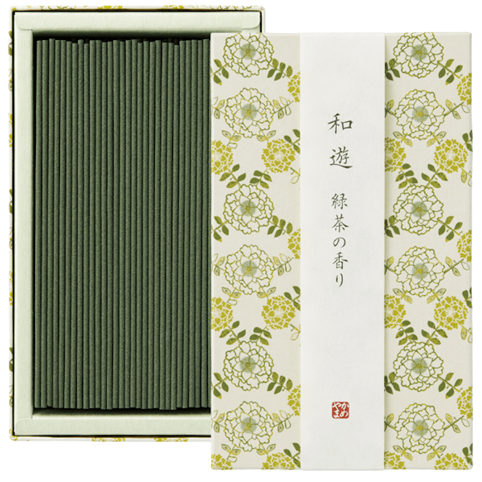 WAYU Incense small 2 boxes Omotenashi Square, LLC Green tea-scented
