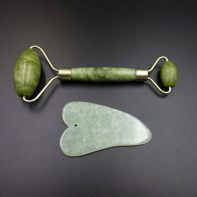 Jade Roller + Face Scraping Tool - Yogatation