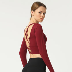 Long Sleeve Open Back - Yogatation