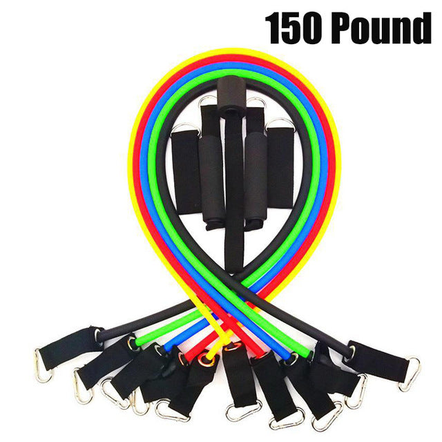 11 Pcs/Set Latex Resistance Bands with Bag
