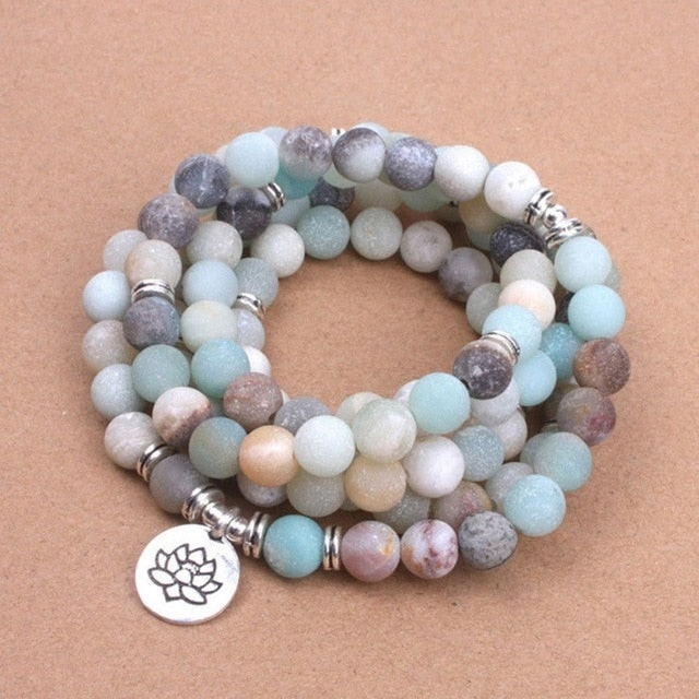 108 mala amazonite - Yogatation