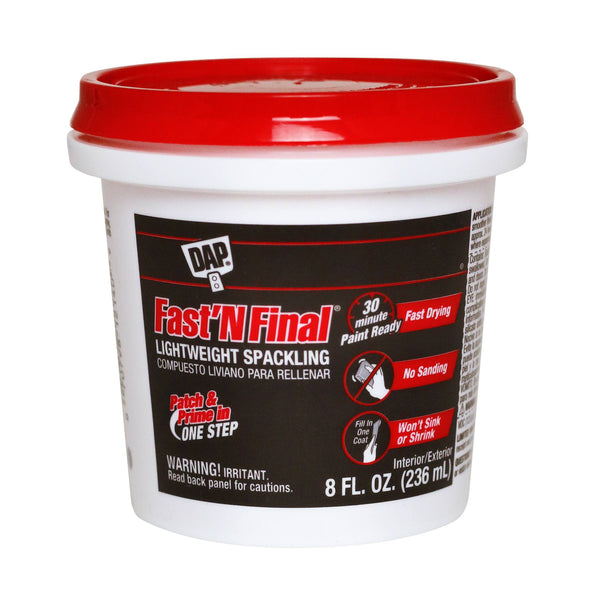 Dap Fast N Final Interior/Exterior Spackle Half-Pint