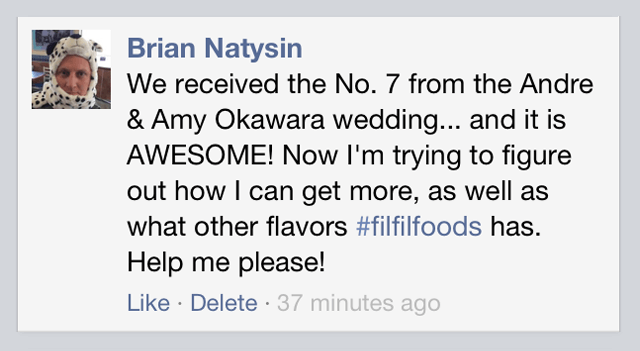 Brian Natysin says 'I got Filfil as a wedding gift and I absolutely loves it!'