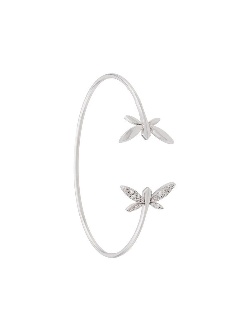 18KT WHITE GOLD DRAGONFLY DIAMOND CUFF