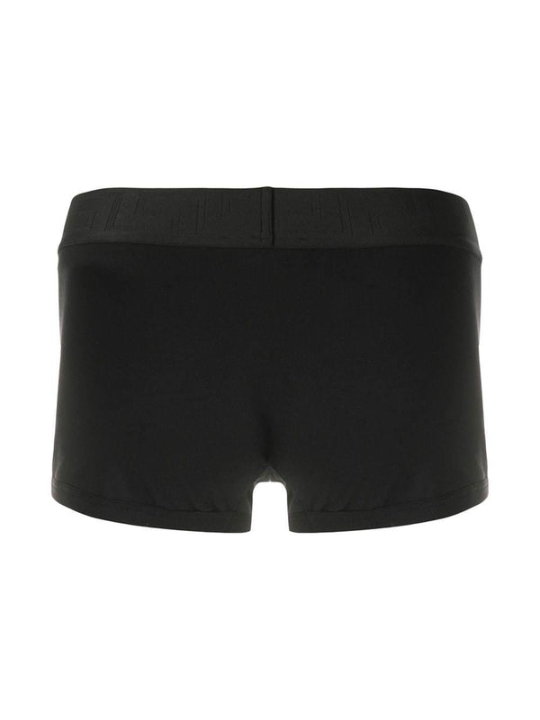 elasticated-waist boxer briefs - Verso