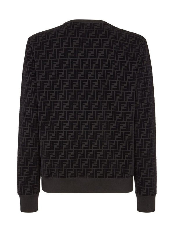 FF-pattern crew-neck sweatshirt