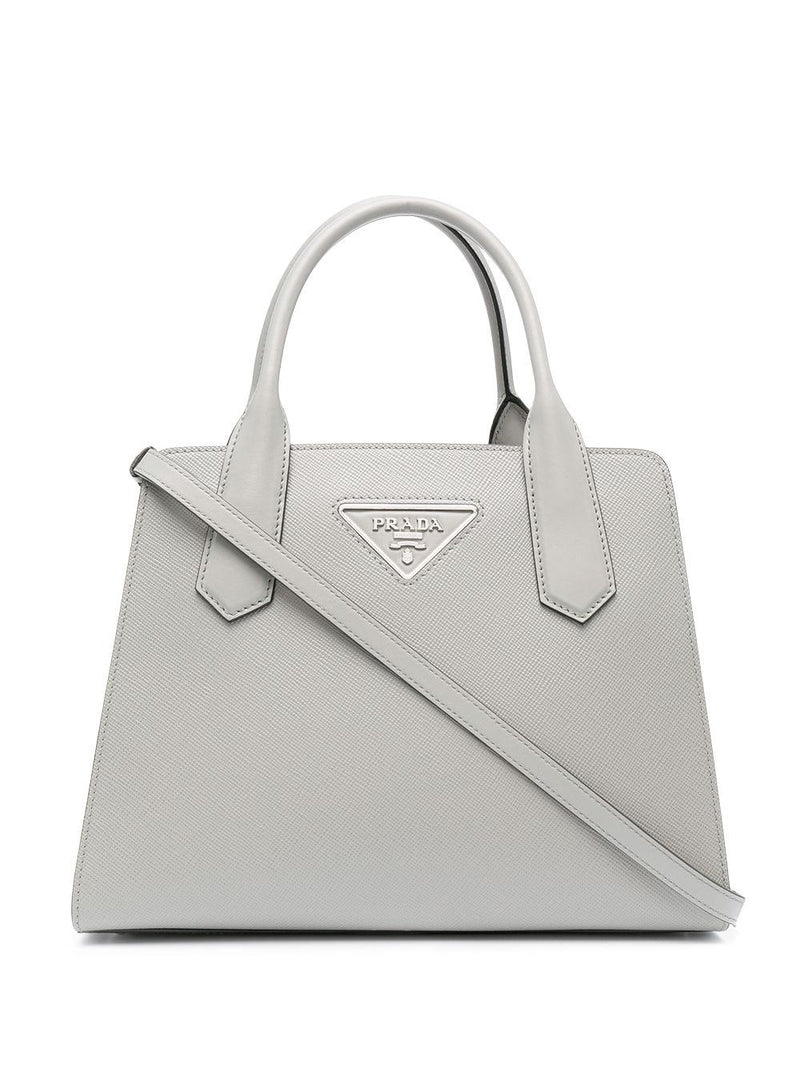 triangle logo tote bag