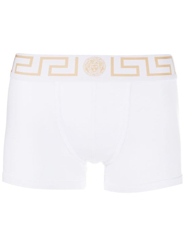 Medusa Greek Key waistband boxer shorts - Verso