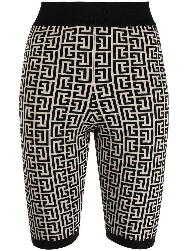 monogram jacquard cycling shorts