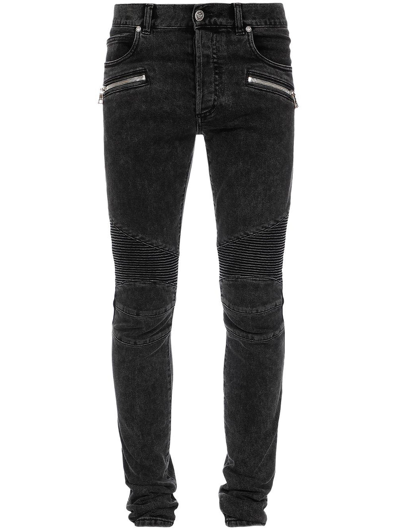 ribbed biker jeans - Verso