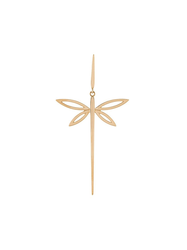 18KT GOLD DRAGONFLY EARRING