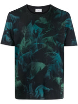 abstract-print T-shirt - Verso