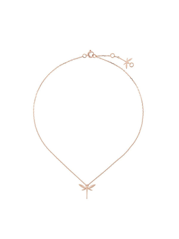 18KT ROSE GOLD MINI DRAGONFLY NECKLACE