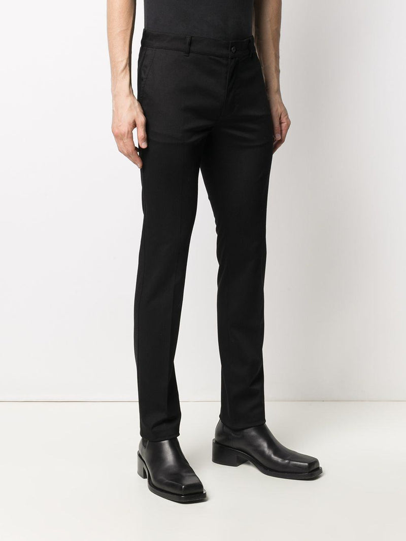 mid-rise slim-cut trousers - Verso
