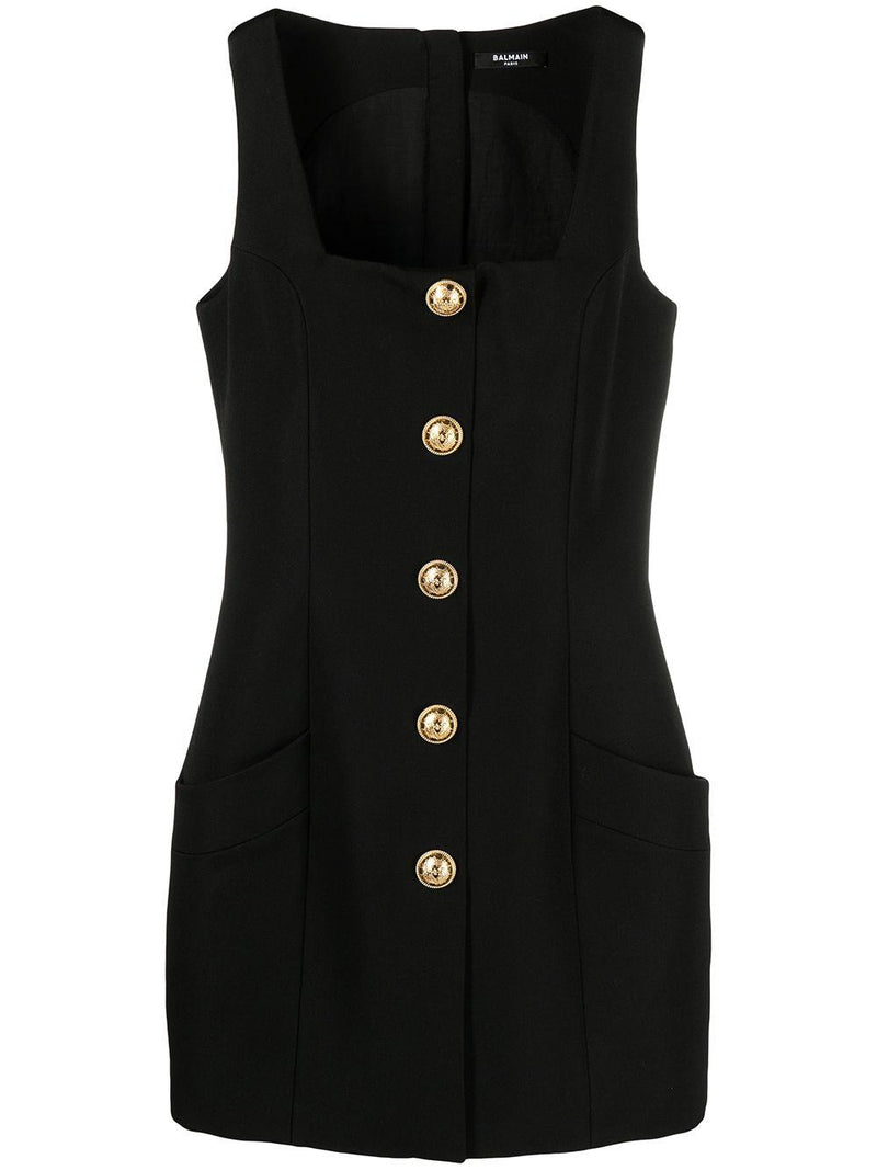 square-neck sleeveless dress