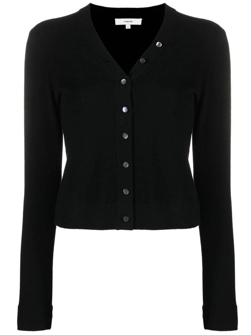 button-down cashmere cardigan - Verso