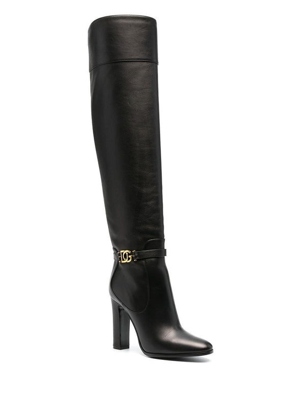 DG buckle knee-high boots - Verso
