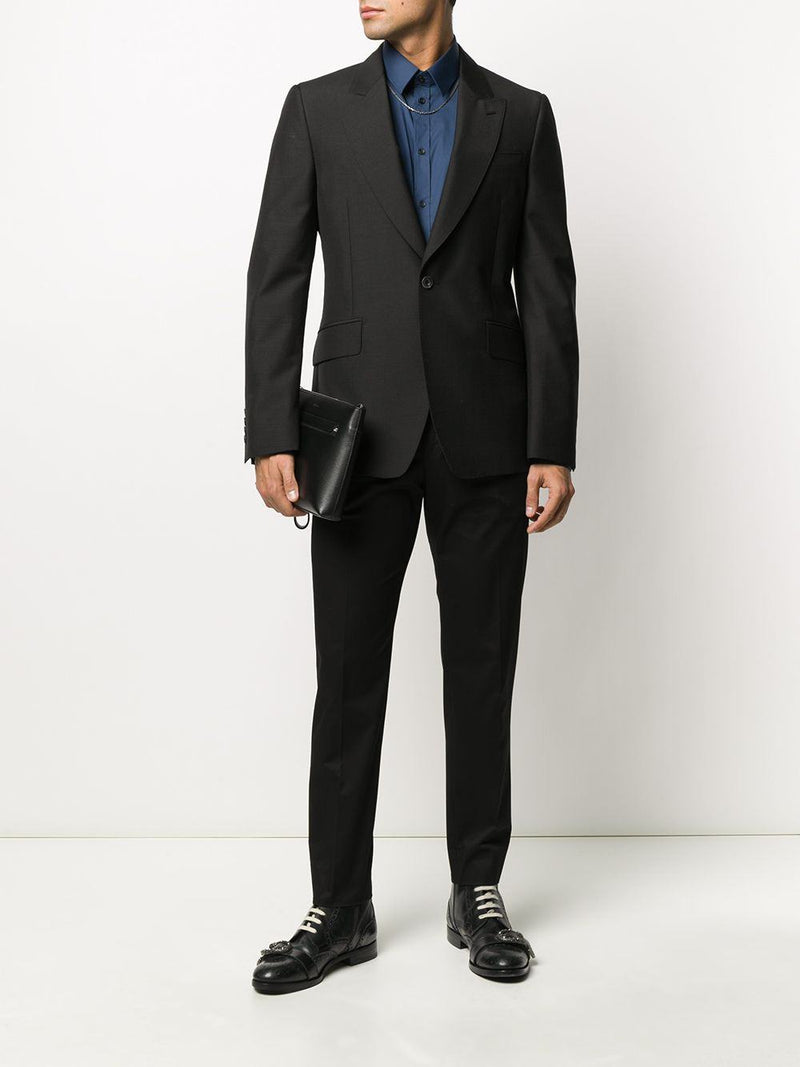 tailored straight-leg trousers