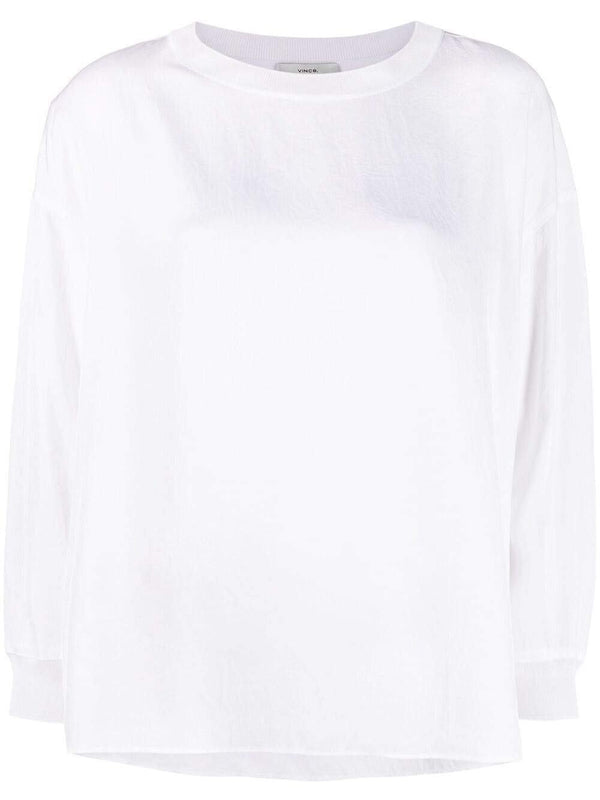 longsleeved round-neck top