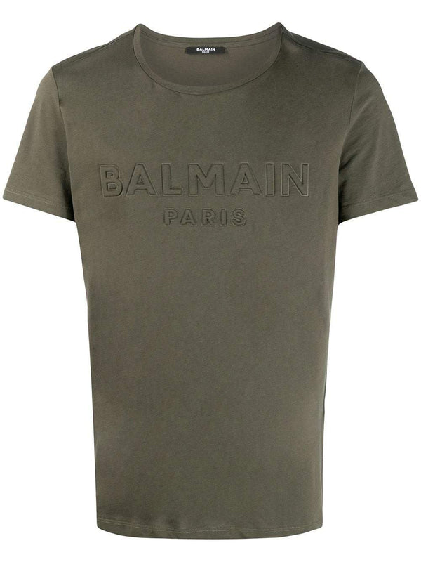 embossed logo cotton T-shirt - Verso