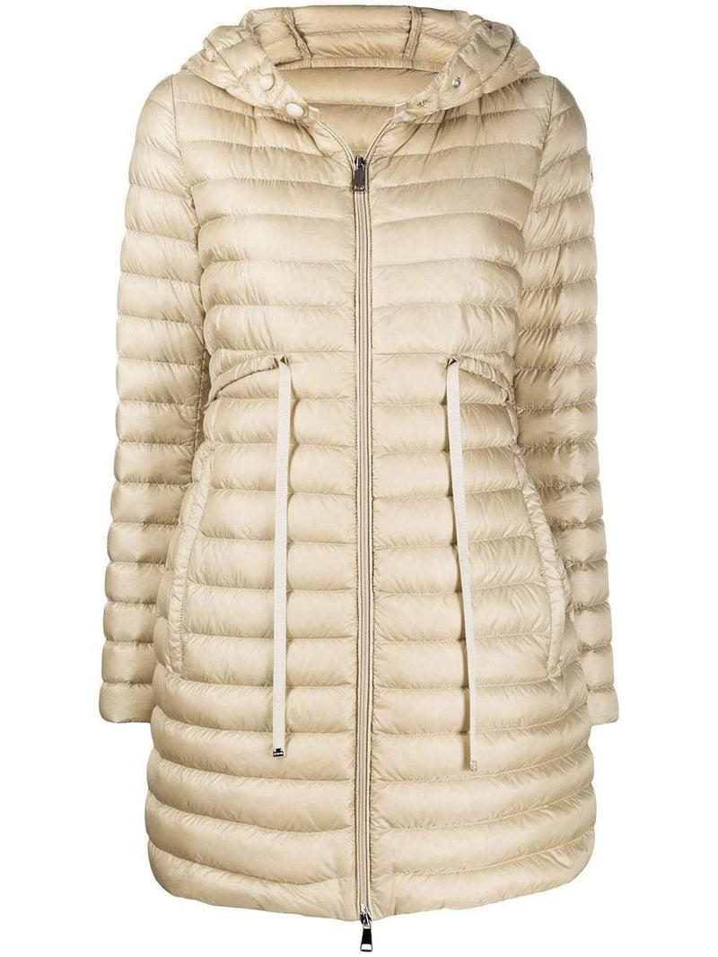 mid-length hooded down coat - Verso