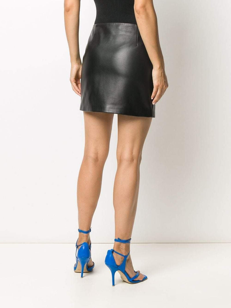 asymmetric-zip A-line skirt