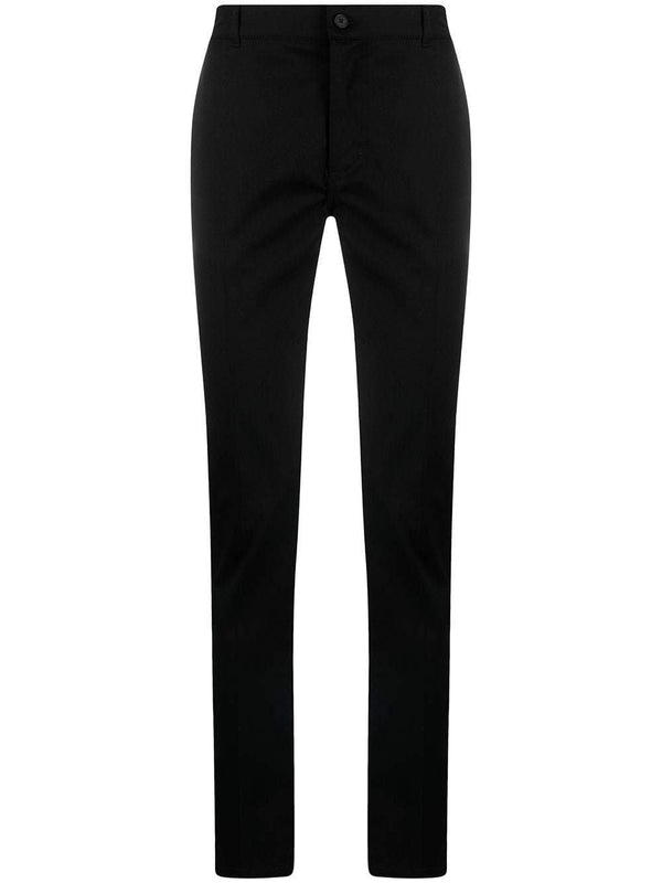mid-rise slim-cut trousers