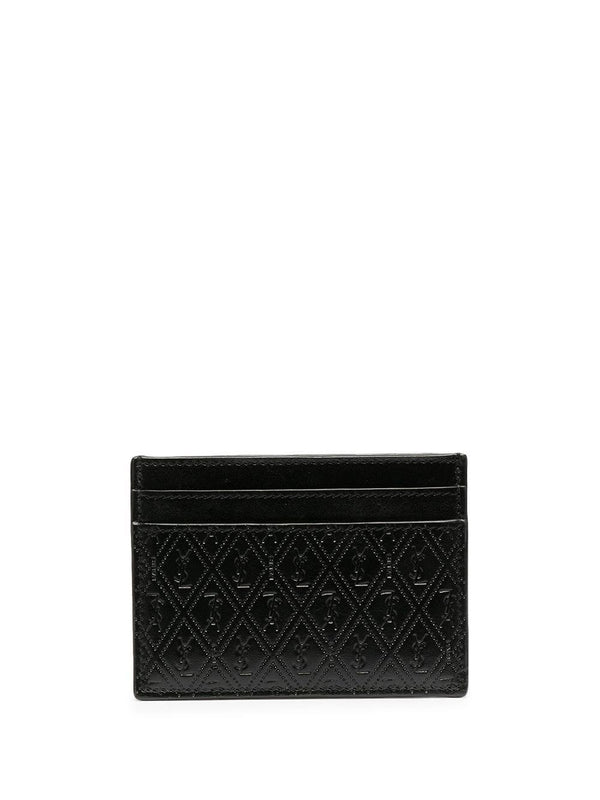perforated leather cardholder