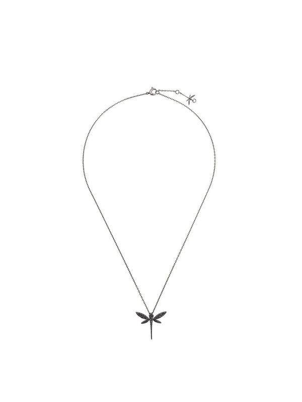 18KT WHITE GOLD DRAGONFLY DIAMOND NECKLACE