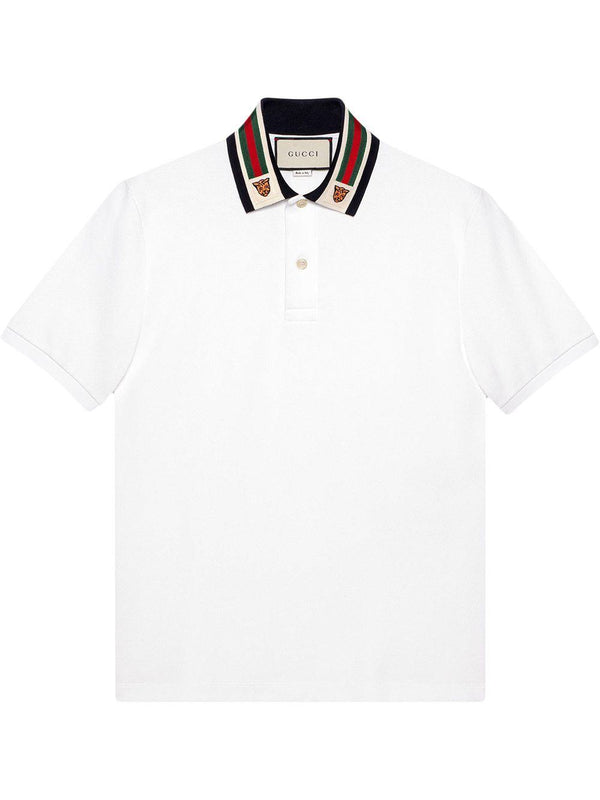 web-detail polo shirt