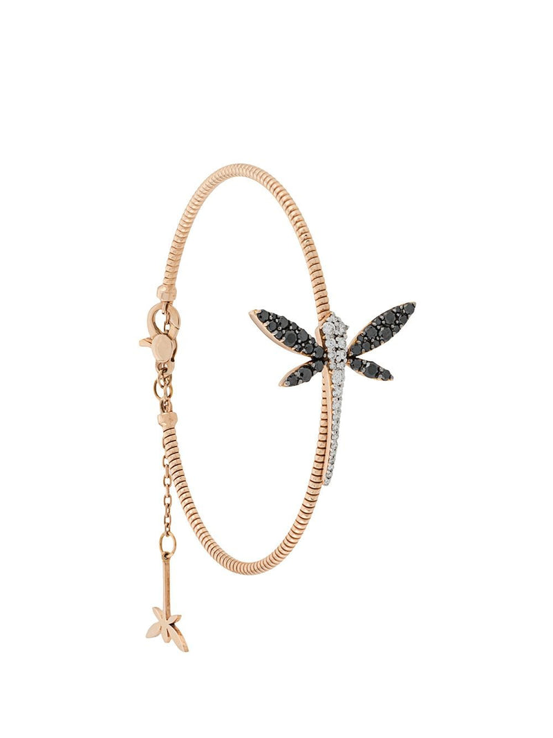 18KT ROSE GOLD DRAGONFLY DIAMOND BRACELET