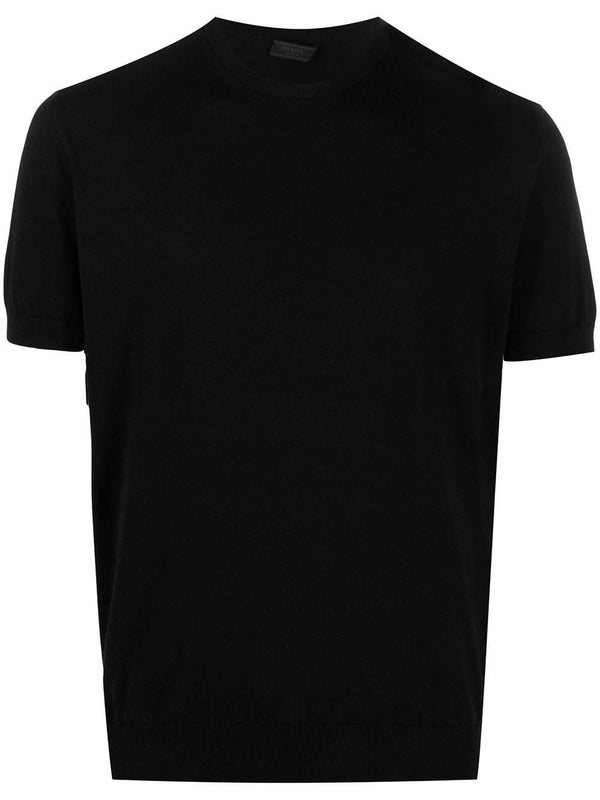 crew-neck knitted T-shirt