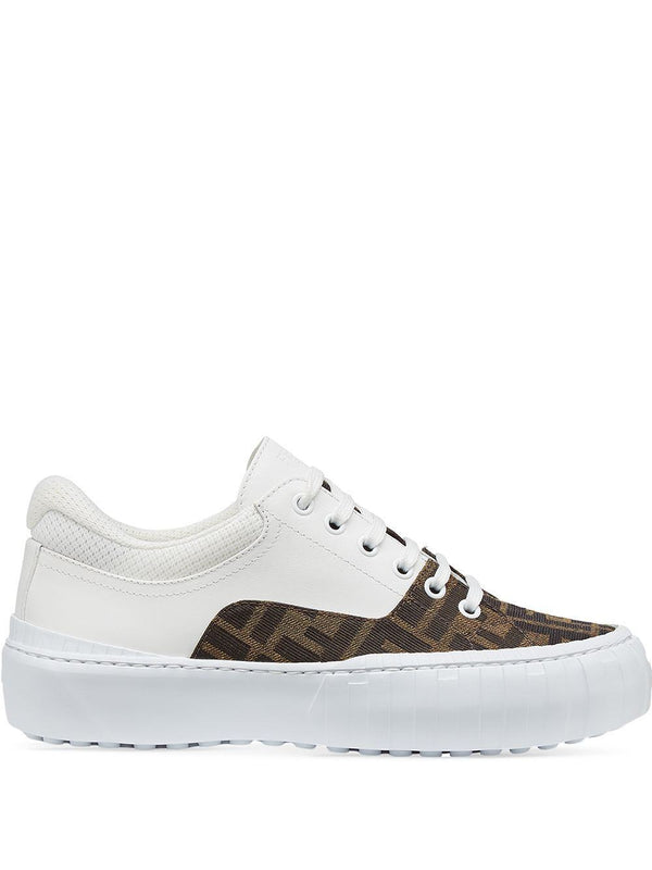 logo-print low-top sneakers - Verso