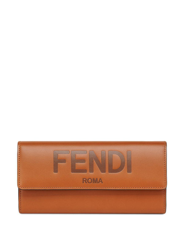 embossed logo continental wallet - Verso