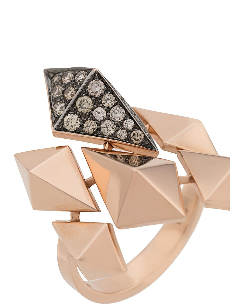 18KT ROSE GOLD EVOLUTION DIAMOND RING