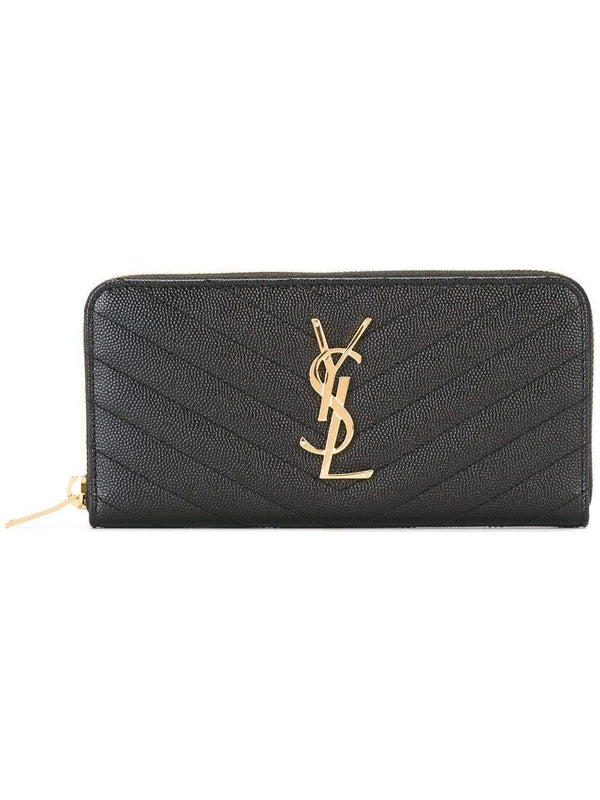 Monogram zip-around wallet