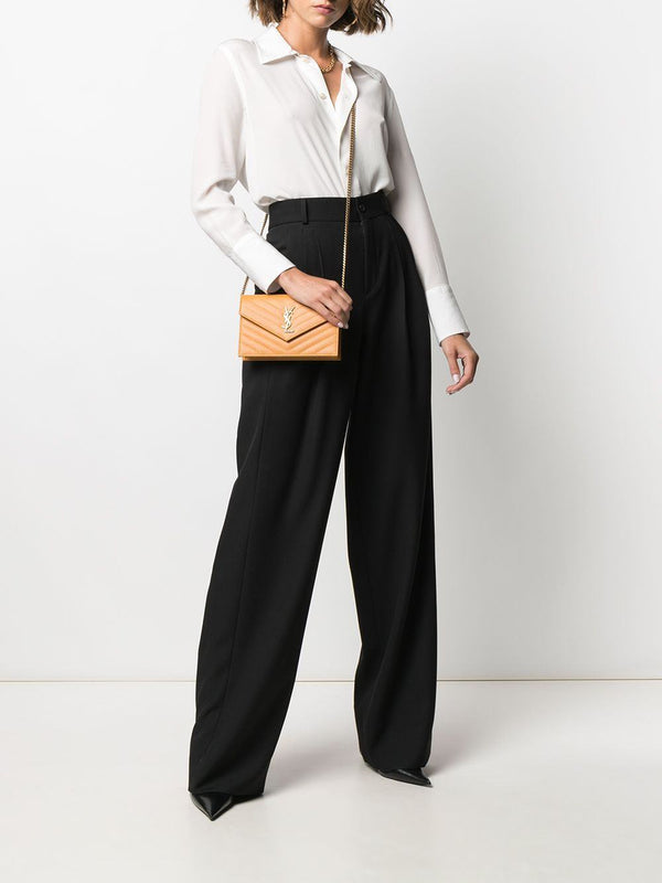 wide-leg pleated trousers - Verso
