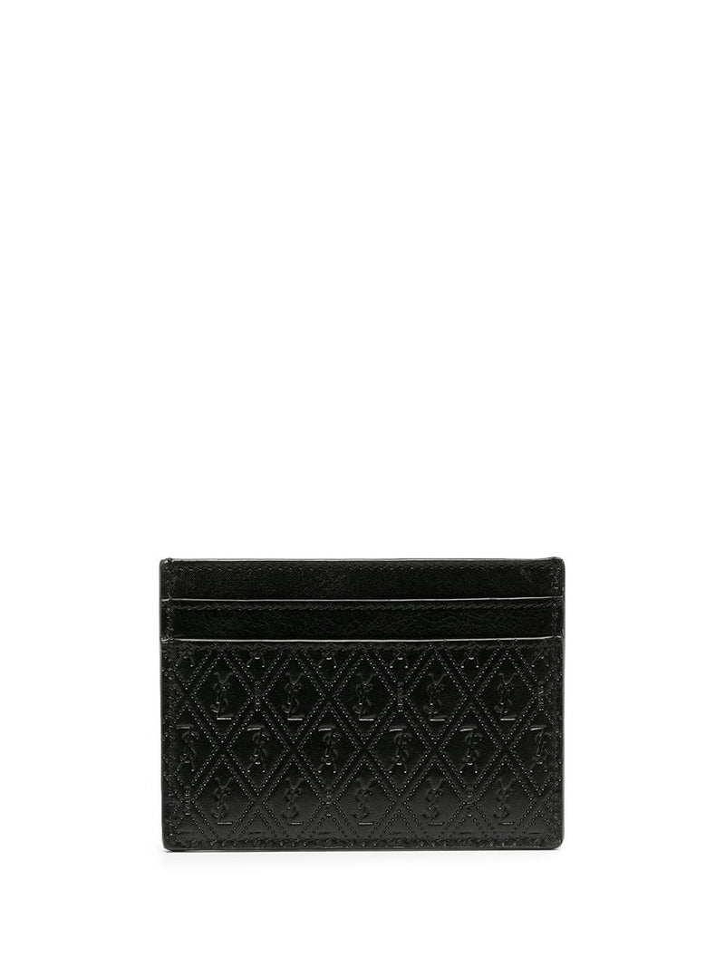 perforated leather cardholder - Verso