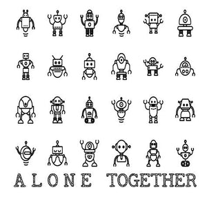 Doodle Tee -Alone Together ROBOT