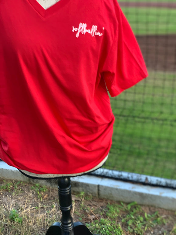 Baseballin' or Softballin' V-neck Tri-blend Tee