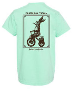 Easters On Its Way Youth Comfort Color Tee